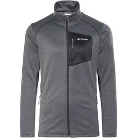 Columbia Jackson Creek II Full Zip Fleece Jacket Men Black Heather